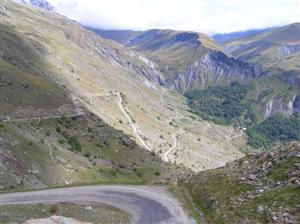 Part of the climb up the Col du Sarenne, the back route up to l'Alpe d'Huez