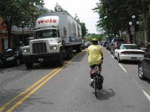 Cycling in traffic - picture from labreform.org