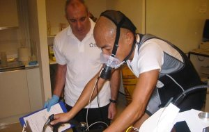 cyclist in lab